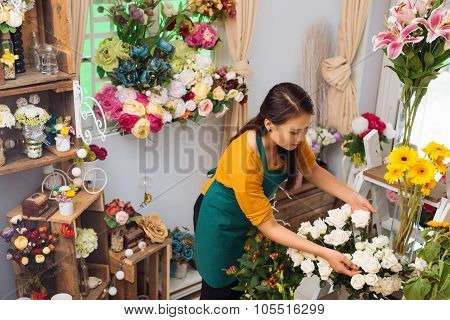 In flower shop
