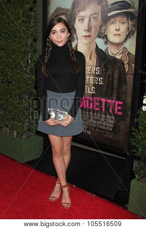 LOS ANGELES - OCT 20:  Rowan Blanchard at the