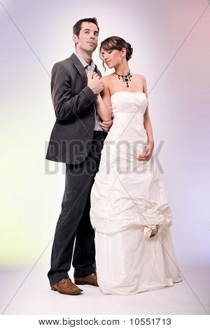 Glamour style wedding photo