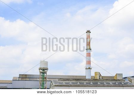 Smokestack In Factory