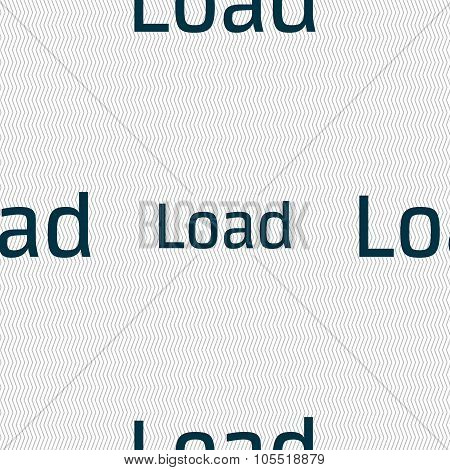 Download Now Icon. Load Symbol. Seamless Abstract Background With Geometric Shapes. Vector