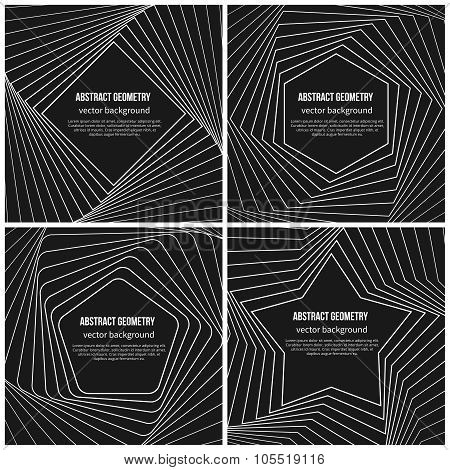 Abstract vector background with simple geometric shapes in linear style
