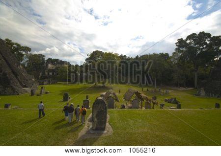 Tourists Tikal