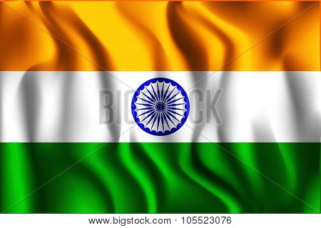 India Variant Flag. Rectangular Shape Icon