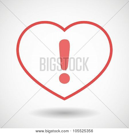 Line Heart Icon With An Admiration Sign