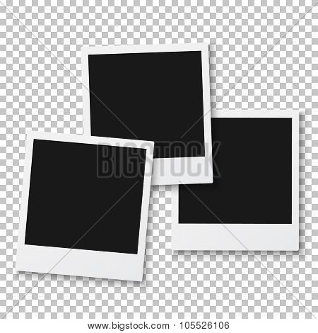 Vintage Photo Frame Isolated on PS Style Background
