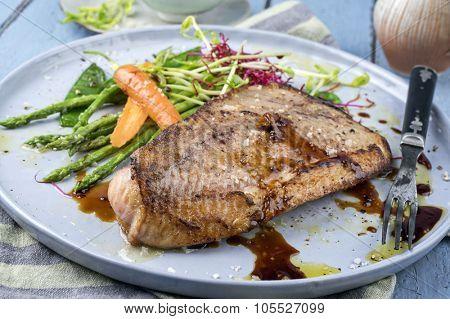 Coalfish Teriyaki with Vegetable
