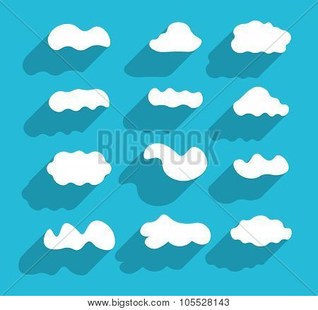 Flat Design Hand-drawn Cloudscapes Collection