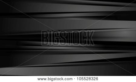 Black smooth stripes corporate abstract background. Vector design