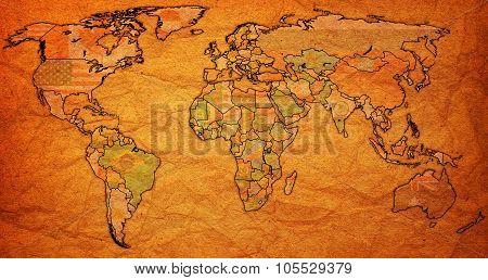 Liberia Territory On Actual World Map