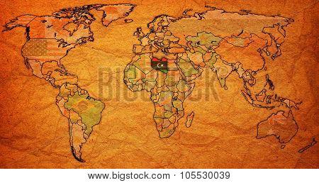 Libya Territory On World Map