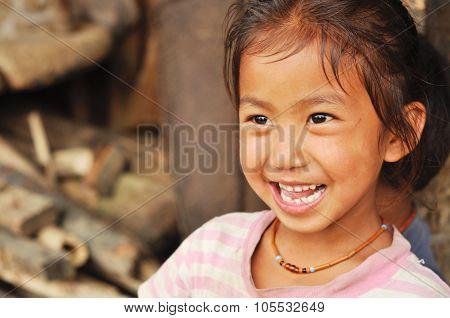 Laughing Girl Nagaland, India