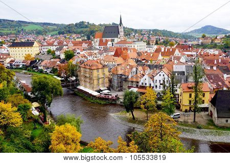 Cesky Krumlov Oldtown City And River