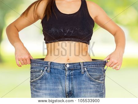 Slim Waist Slimming Body Successful Diet