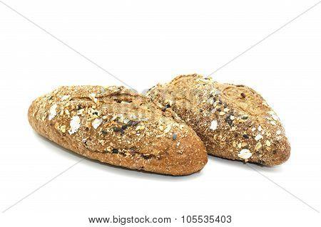 Mini Multi Malt Baguette Isolated On White Background