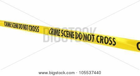 Crime Scene Do Not Cross Tape Line At Angle
