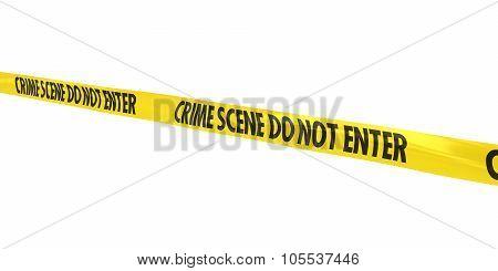 Crime Scene Do Not Enter Tape Line At Angle