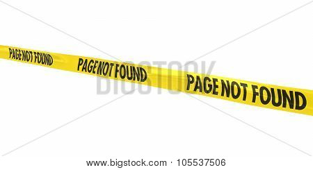 Page Not Found Tape Line At Angle