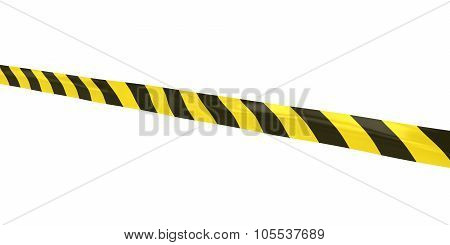 Yellow And Black Striped Hazard Tape Line At Angle