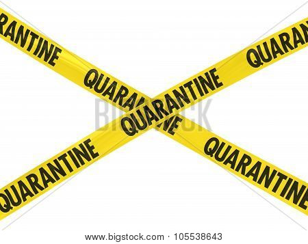 Yellow Quarantine Barrier Tape Cross