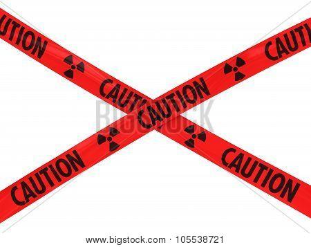 Red Caution Radiation Symbol Barrier