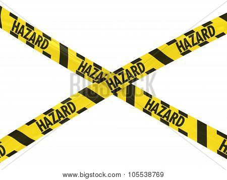 Yellow And Black Hazard Stripes Hazard Tape Cross