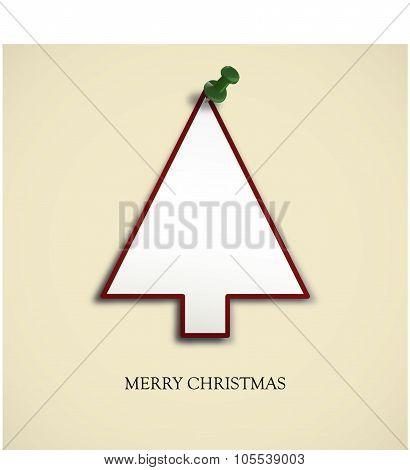 Christmas Card - Christmas Tree With Pin Needle