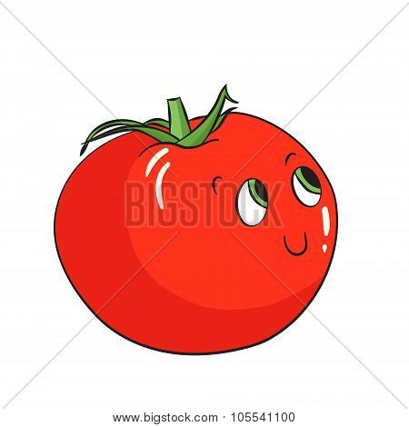 Vegetable tomato vector illustration