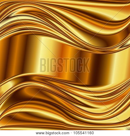 Metal background, gold brushed metallic