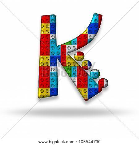 Letter K Block Designer