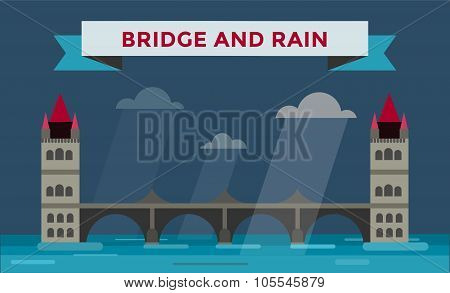 Tower bridge vector illustration