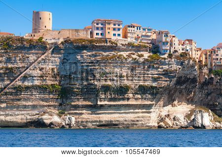 Living Houses And Fortress On The Rocky Coast