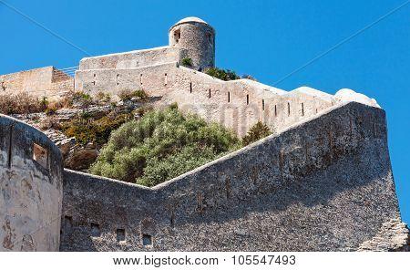 The Citadel On The Rock. Bonifacio, Corsica Island