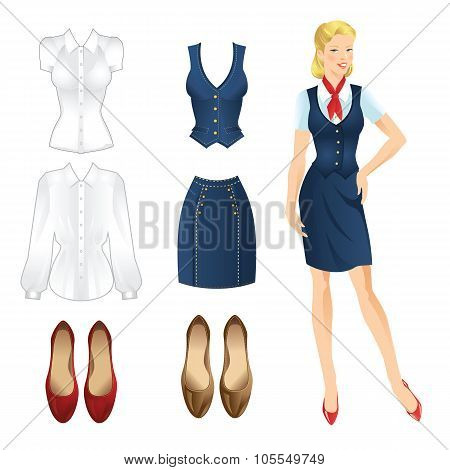 Set of uniform clothes