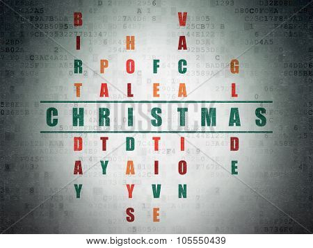 Holiday concept: Christmas in Crossword Puzzle