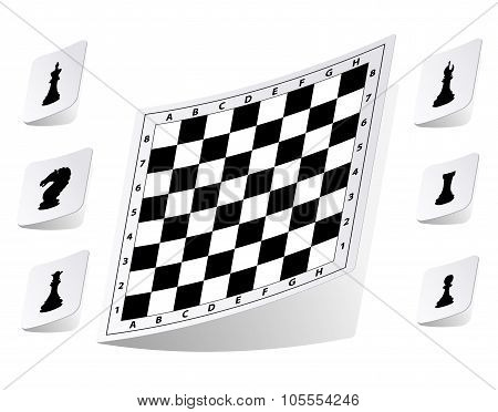 Chessboard stickers set