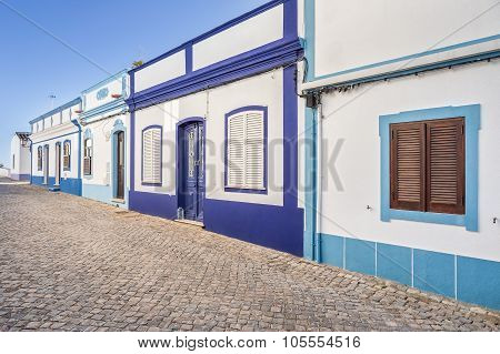 Traditional Portuguese Street. Ancient Architecture.