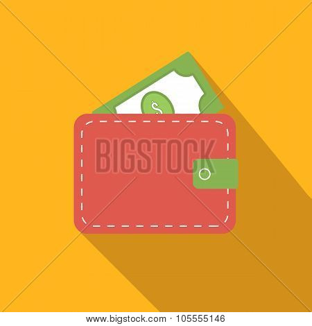 Purse flat icon