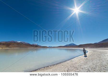 Tourist Walking Beside