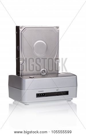 Hard Drive Docking Station. To Save And Duplication.
