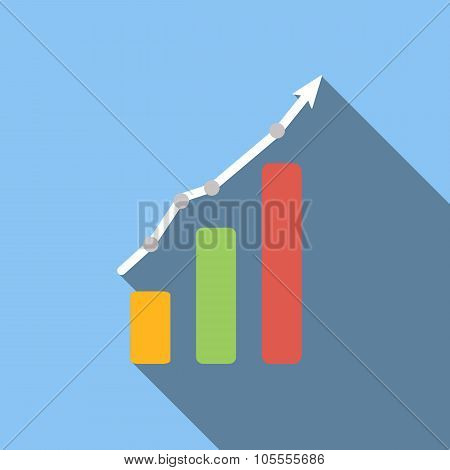 Graph chart flat icon