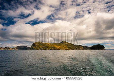 Offshore View Of Island Of The Sun, Titicaca Lake, Bolivia