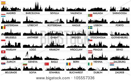City ??skyline European countries2