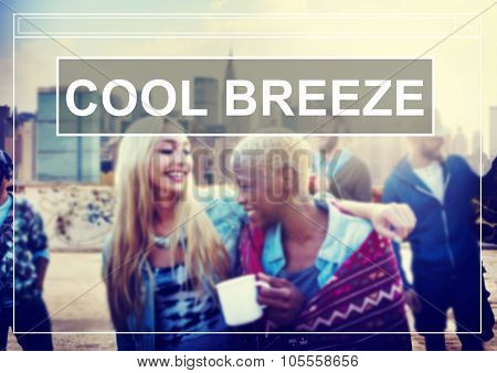 Cool Breeze Summer Freedom Happiness Concept