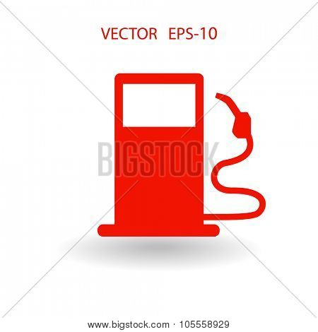Flat fuel icon. Vector