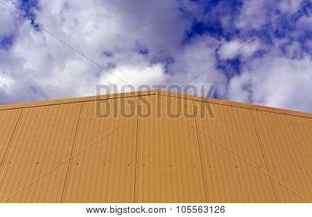 Metal Warehouse Building Wall.