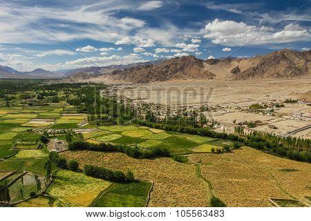 Himalayas From Thikse Monastery-ladakh,india