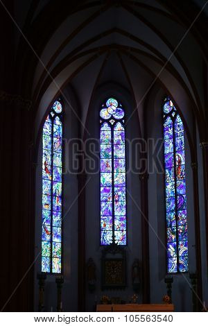 Chagall window St. Stephan Mainz