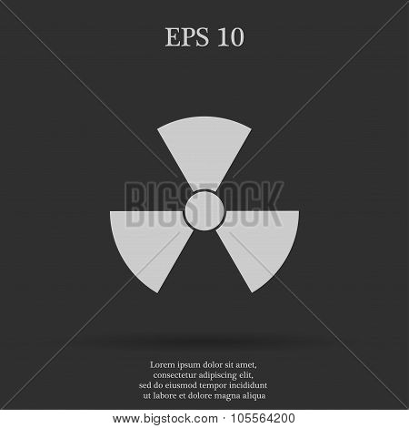 Radiation Symbol  Flat Design Style