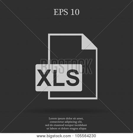 Xls Icon  Flat Design Style